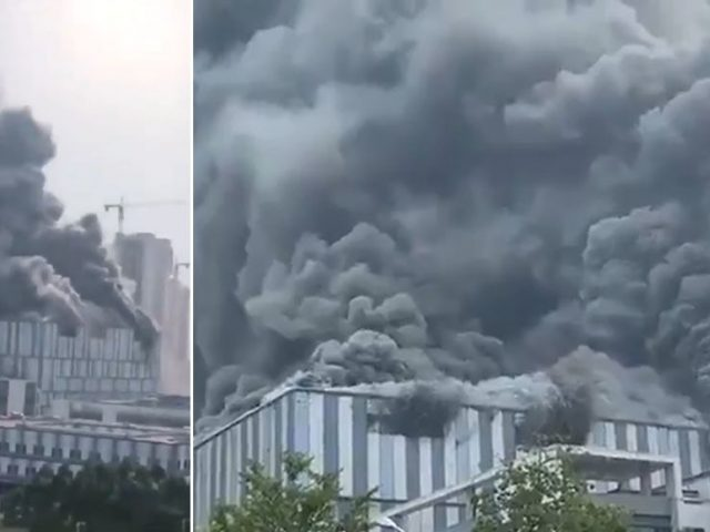 Massive fire breaks out in Huawei 5G research facility in China (VIDEOS)