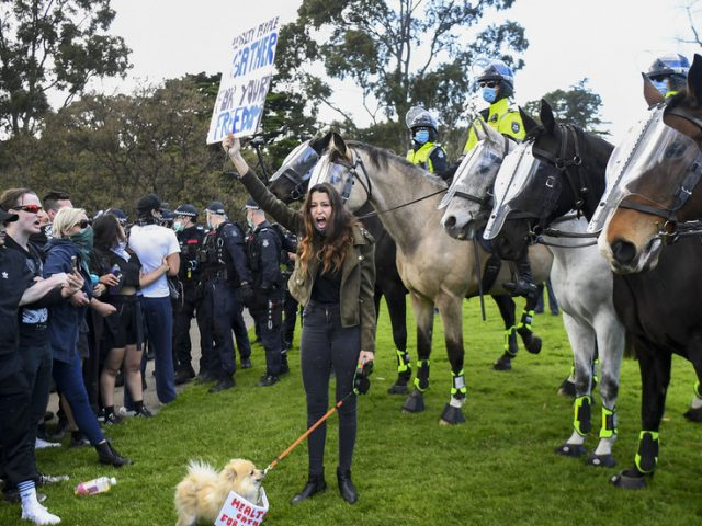 'Like dog eating own vomit': Top Victoria cop erupts in anger as he repeats warning against joining Melbourne anti-lockdown rally