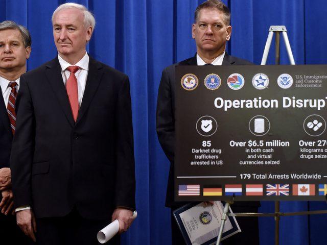 179 arrested & 500kg of drugs seized in worldwide crackdown on darknet opioid trafficking