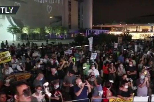 Anti-lockdown protesters rally in Tel Aviv as 2nd nationwide quarantine looms over Israel (VIDEO)