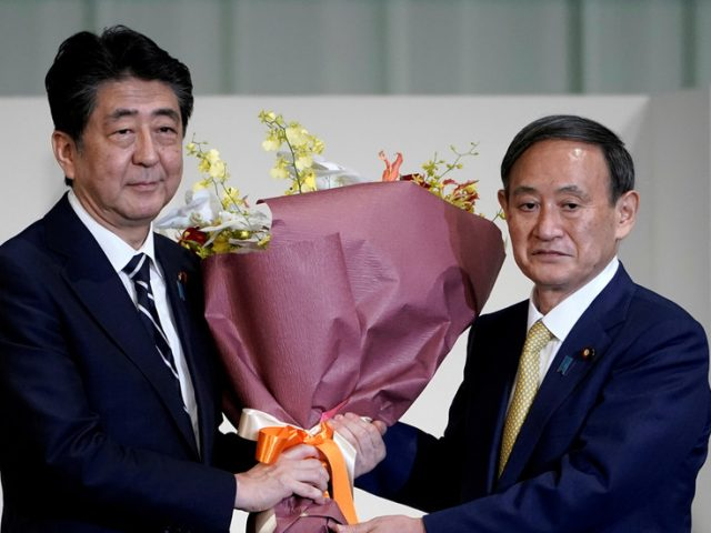 Yoshihide Suga becomes prime minister of Japan after Shinzo Abe's cabinet formally resigns