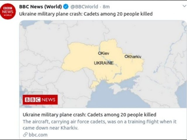 BBC apologizes after map showing Crimea as part of Russia prompts Ukrainian embassy backlash