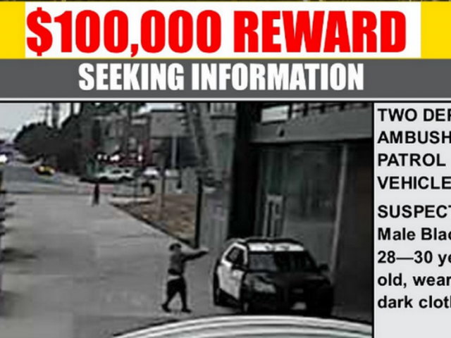 LA County offers $100,000 reward for information leading to arrest of suspect in cop ambush shooting