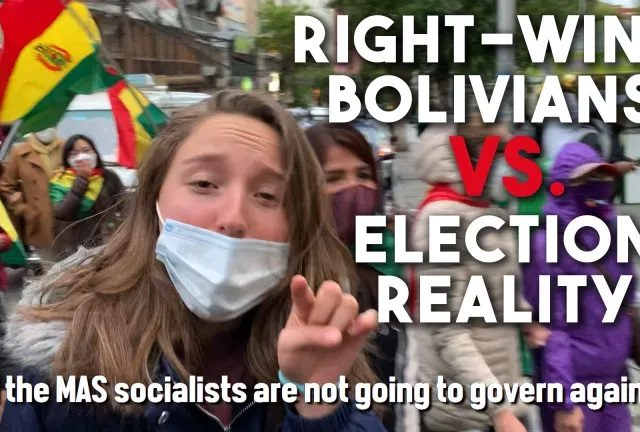 Right-wing Bolivian protesters refuse to accept election loss