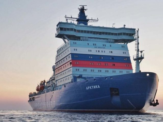 World's largest & most powerful nuclear icebreaker joins Russia's Arctic fleet