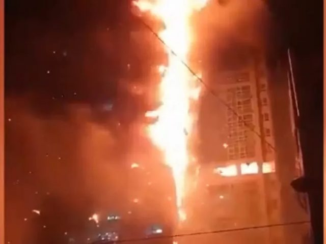 Video: Giant Fire Engulfs 33-Storey Tower, Injures 15 in South Korean City of Ulsan