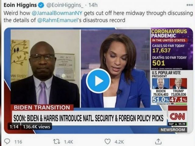 CNN guest explains why a mayor who protected killer cop from going to jail has no place in Biden cabinet, gets cut SECONDS later