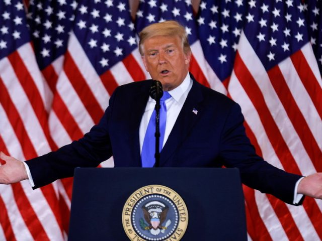 Trump blames 'surprise' ballot dumps & says his lead 'magically disappearing' as he trails Biden in key states