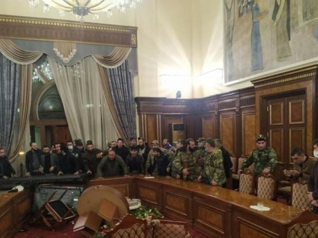 WATCH crowds protest in Yerevan & storm Armenia's parliament after 'painful' Nagorno-Karabakh peace deal is announced