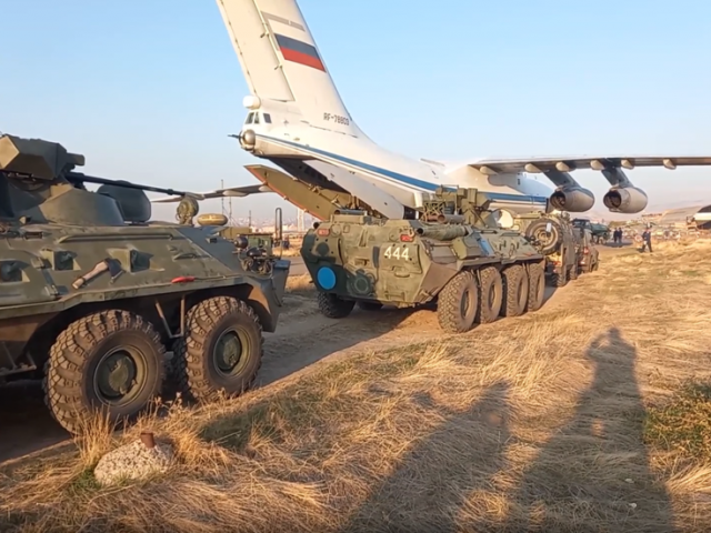 WATCH: Twenty Russian military cargo planes land in Armenia as first 400 peacekeepers move out to war-torn Nagorno-Karabakh region