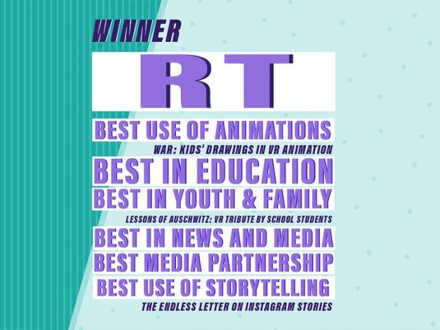 RT's #VictoryPages project wins big at prestigious Shorty Social Good Awards, overtaking HBO, MTV & other media giants
