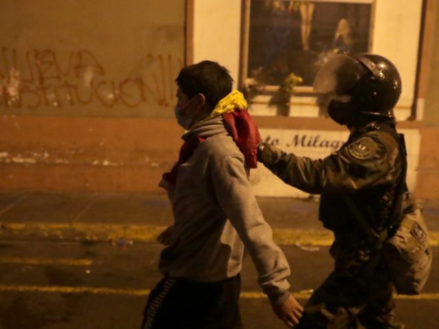 11 injured in Lima as protesters opposing swearing-in of new president clash with police