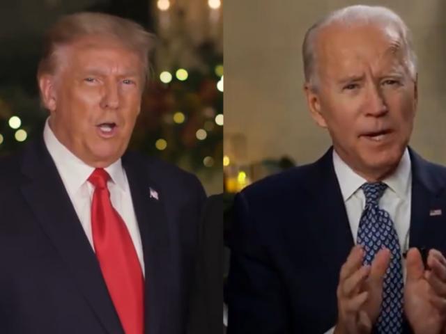 Media hammers Trump… for delivering SAME Christmas message as Biden