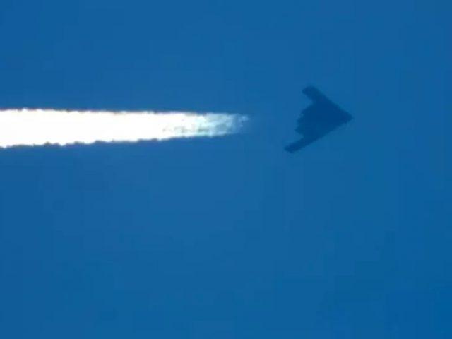 Video: B-2 Stealth Bombers Seen Cruising Over Skies Above Utah