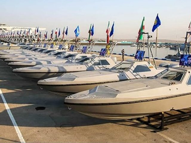 Iran's Navy unveils 340 new missile firing speedboats as Tehran looks to increase influence in the Persian Gulf