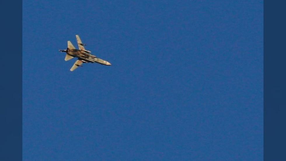 Israeli aircraft pelted