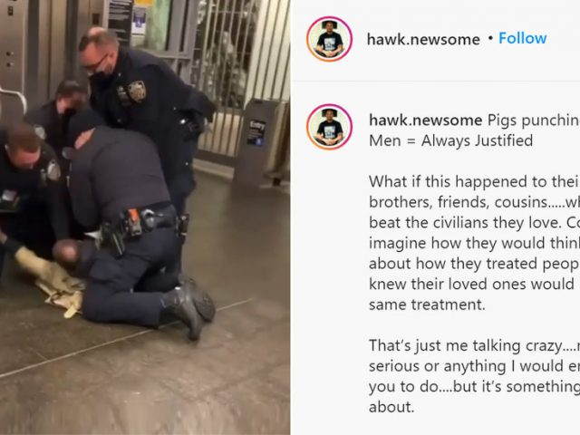 DISTURBING VIDEO shows cop punching alleged attacker in the head as assaults on transit police TRIPLE in NYC
