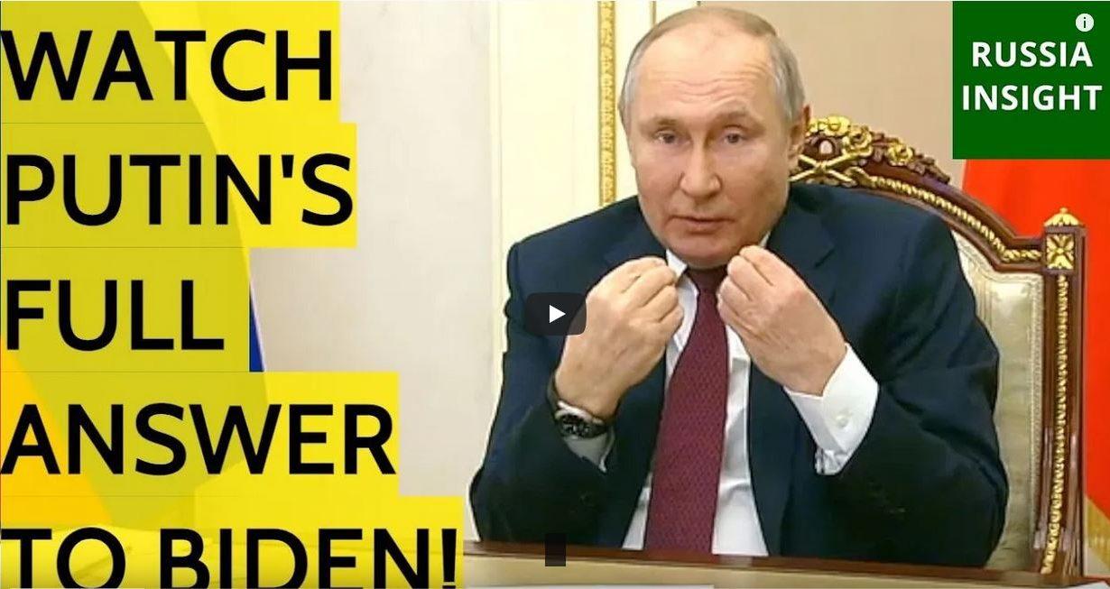 Putin answer to biden