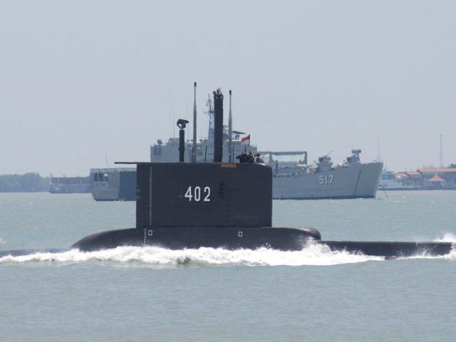 Search underway for Indonesian submarine missing north of Bali, 53 on board – military
