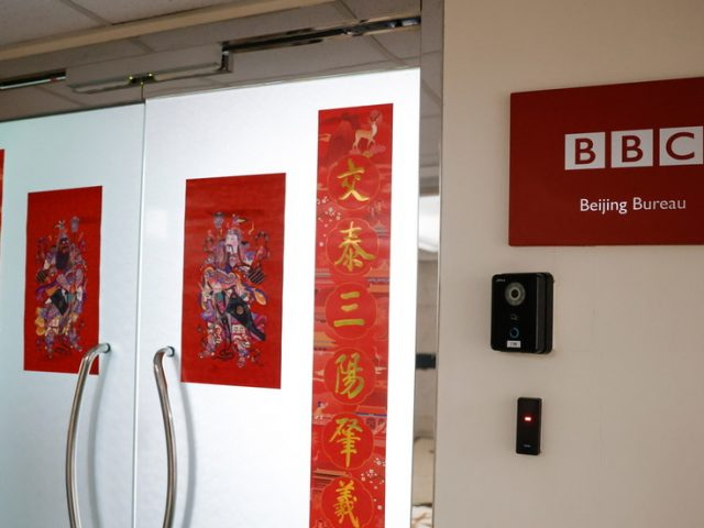 Beijing accuses BBC of spreading fake news and blasts reporter for 'running' from China as Xinjiang citizens plot legal action
