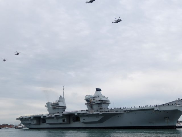 'Britain's deployment is not to be provocative,' says defence sec as UK sends aircraft carrier and other warships towards China