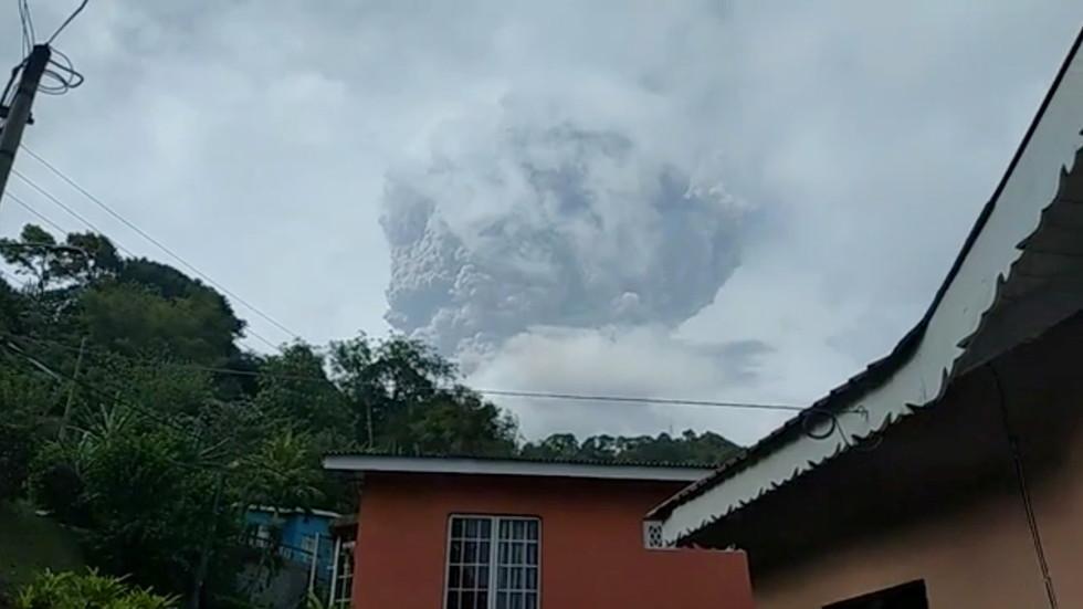 St. Vincent's La Soufrière volcano