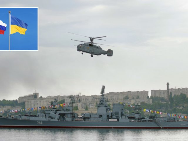 Kiev accuses Russia of closing Black Sea strait to its warships, blocking Ukrainian navy from port while sailors carry out drills
