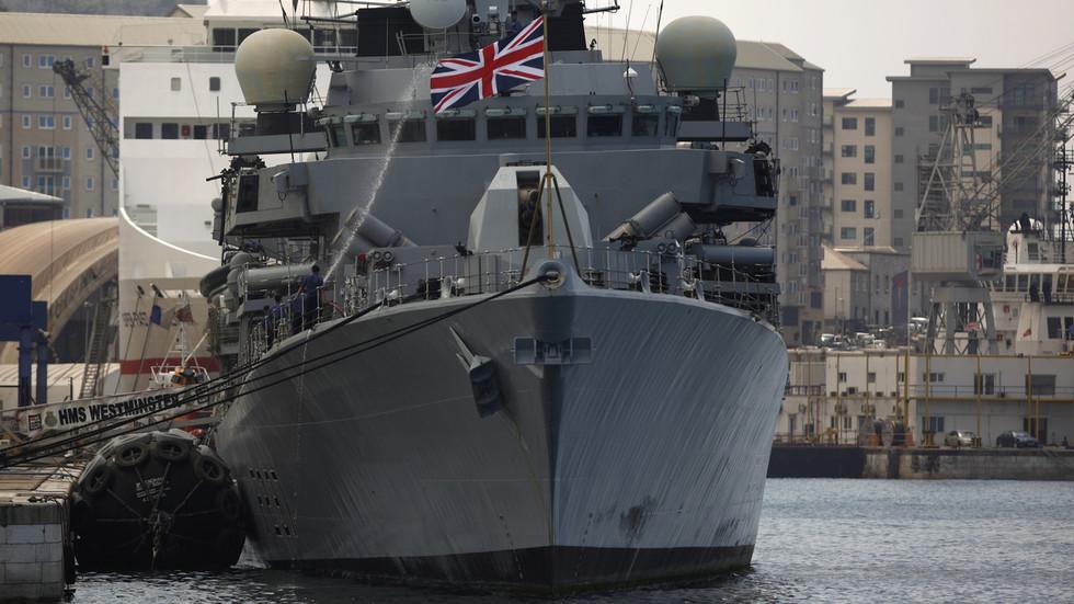 Two British gunboats