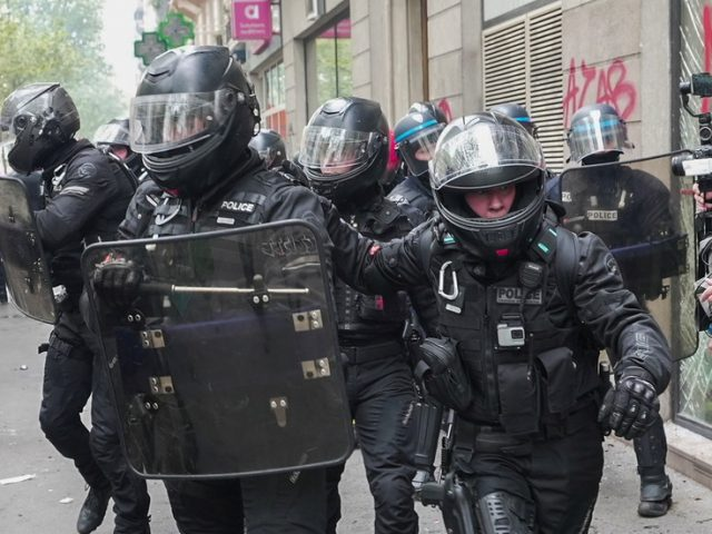 WATCH chaos gripping Paris as violence & vandalism mark May Day protest