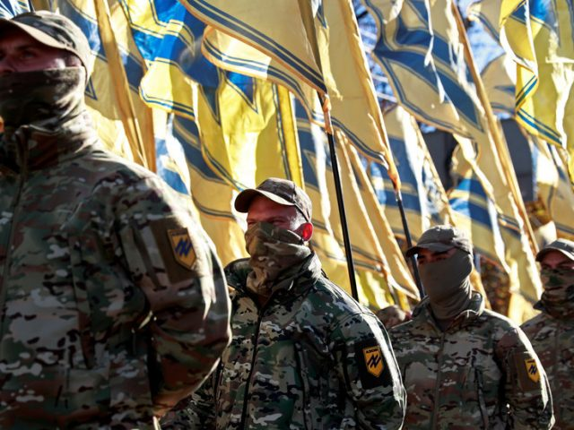 Ukraine nationalists march through Odessa on 7th anniversary of post-coup massacre in which dozens were burned alive