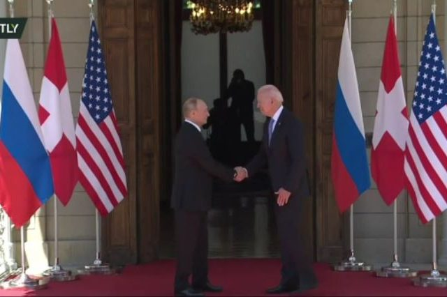 Presidents Putin & Biden meet in Geneva's Villa La Grange for their first bilateral summit, with hours of discussion ahead