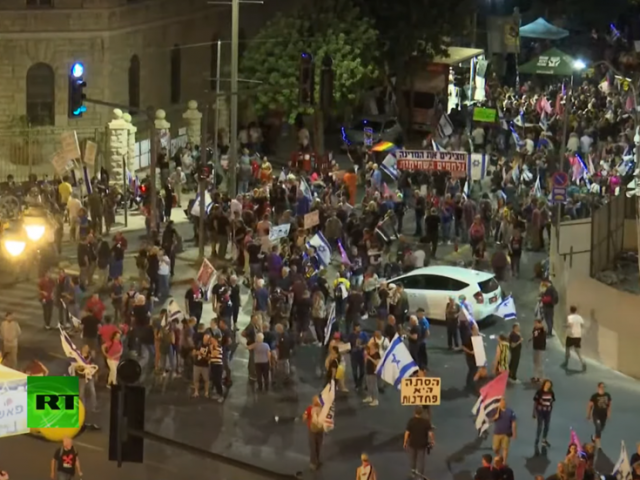 Anti-Netanyahu protesters celebrate 'victory' outside PM's residence on eve of coalition vote to remove him from power