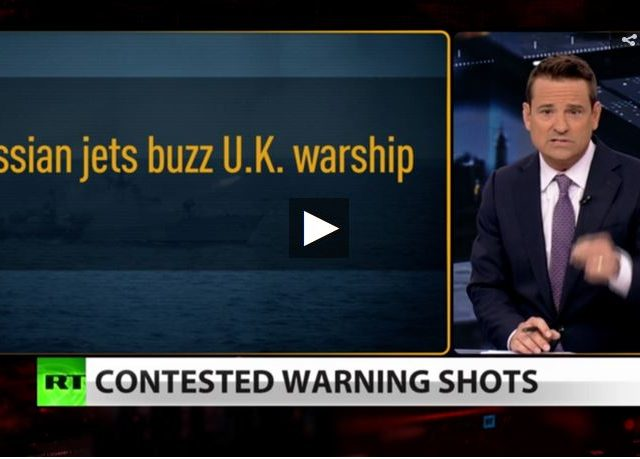 Russian naval ship fires warning shots at British destroyer (Full Show)