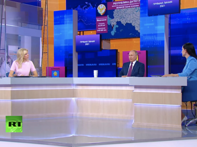 WATCH LIVE: 18th edition of Putin's televised 'Direct Line' – latest Q&A marathon takes place as Russia faces new Covid-19 crisis