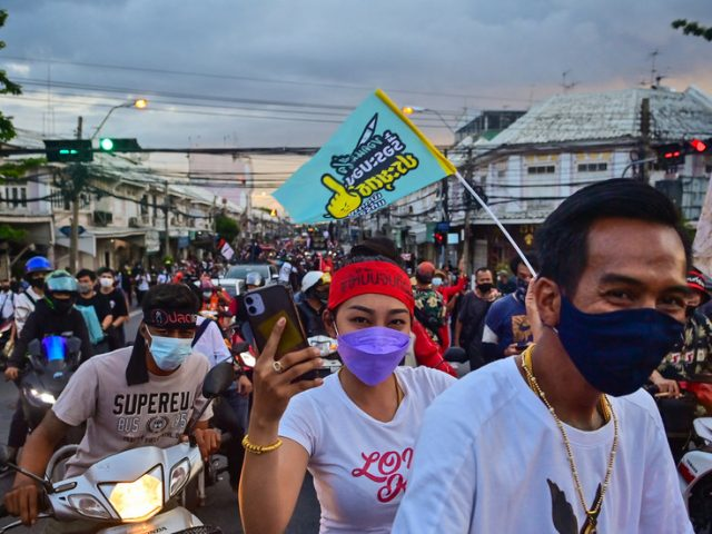 Thai protesters back on the streets demanding resignation of govt and limiting of king's powers