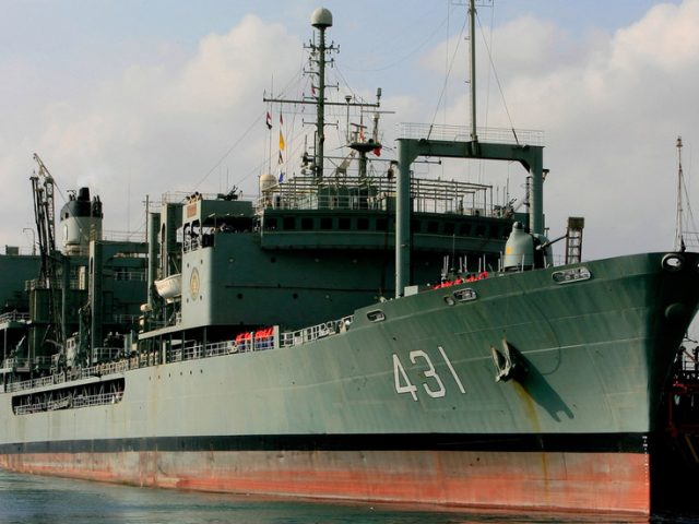 Iranian Navy's largest vessel catches fire & sinks in Gulf of Oman (PHOTOS, VIDEOS)