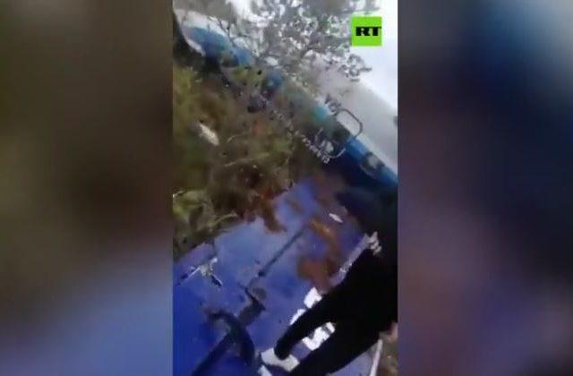 Russian miracle as all passengers & crew walk away from horror Siberian crash that saw Soviet-era turboprop plane land upside down