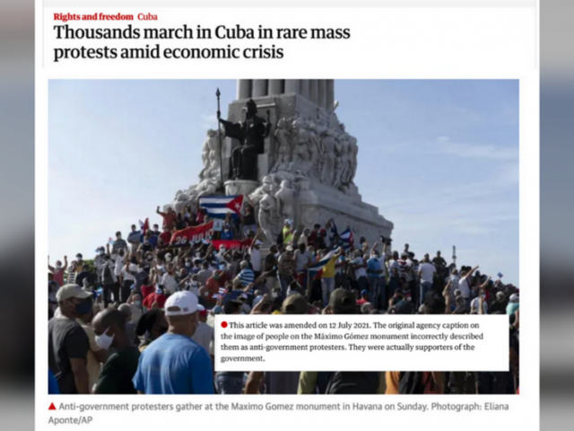 Western media use images of PRO-government rally, protest in Miami to illustrate Cuban unrest as Havana warns of 'soft coup'