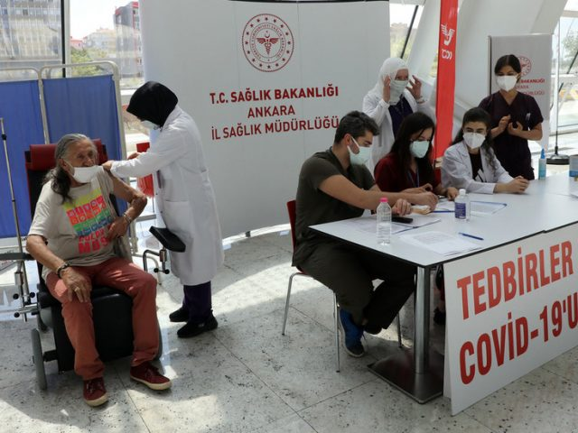 Turkey reaches 50 million Covid vaccine milestone and country's own jab's in clinical trials