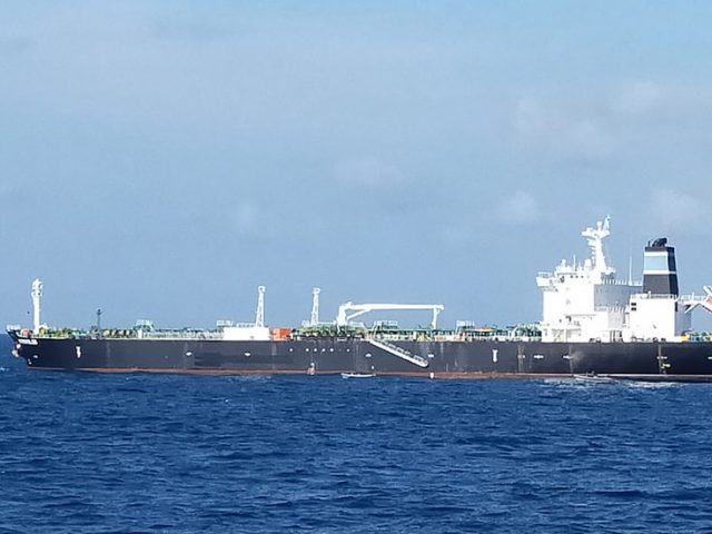Indonesia navy impounds tanker over allegations of stealing some 300,000 barrels of oil from Cambodia
