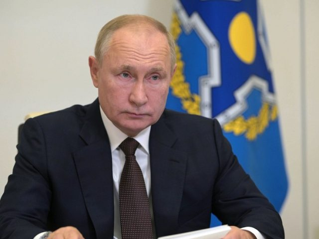 Kremlin Covid outbreak: Dozens of Russian government staff have tested positive for virus, Putin tells CSTO summit by video-link