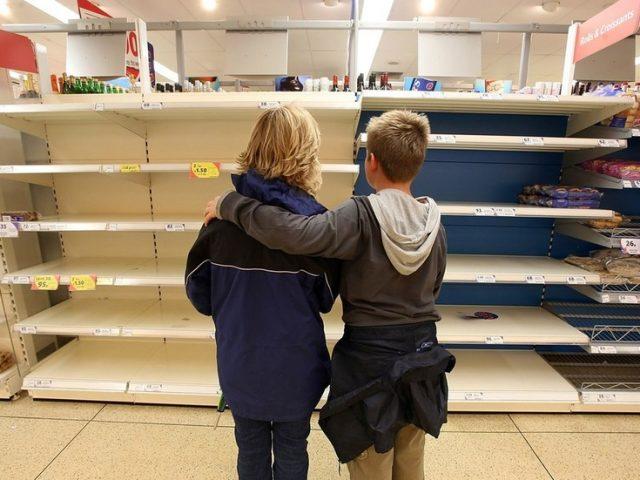Shelves stripped bare across UK as Brits rush to panic-buy ahead of Christmas
