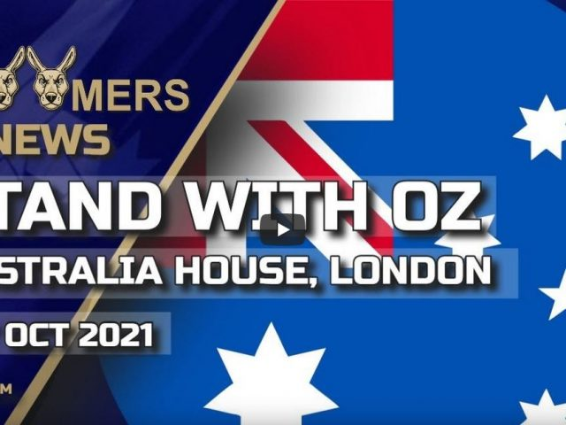 STAND WITH OZ AUSTRALIA HOUSE LONDON