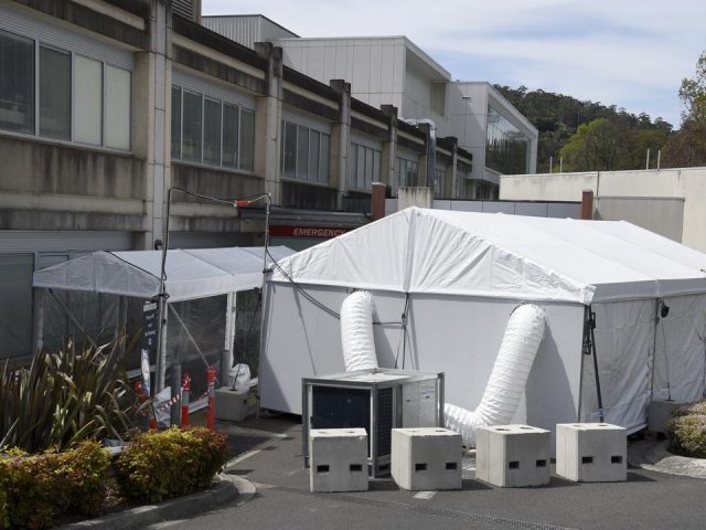 Covid-19 Victoria: Tent set up outside Melbourne hospital as cases skyrocket in the state