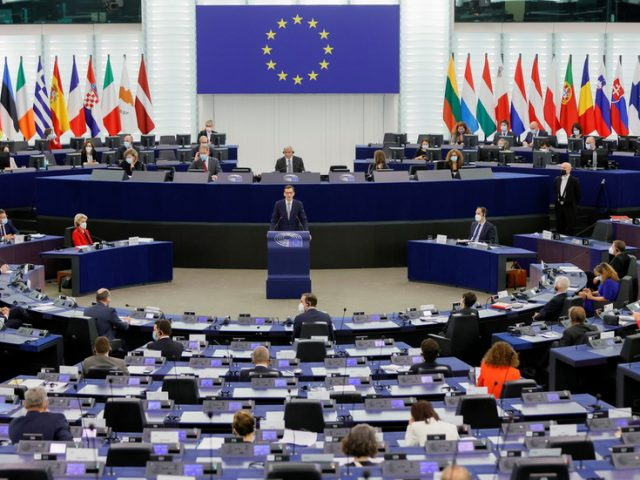 Poland will be punished for challenging EU law primacy, European leader warns, as Warsaw claims Brussels is devoid of democracy