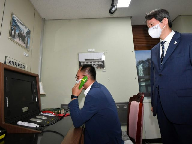 Pyongyang restores hotline with Seoul, calls for 'positive efforts' to ease Korean Peninsula tensions